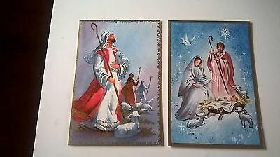 vintage 1950's sharpes classic Christmas cards x 2 both unused