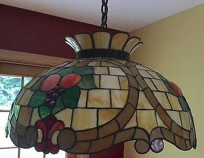 Victorian Stained Glass Dome Chandelier