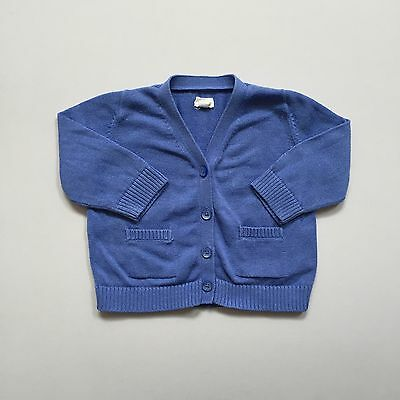 Baby Boy Gap Blue Knitted Button Up Cardigan 0 To 3 Months BabyGap