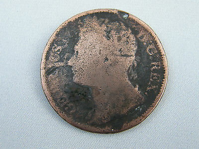 Irish One Penny 18?? Georgius 1V Hibernia Ireland Coin