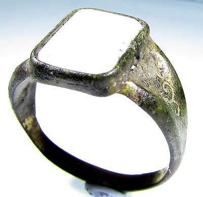 Stunning Late / Post Medieval Gold Gilded Ring With White Stone -Wearable- 1907