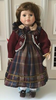 Genuine Porcelain Doll Collection 'Olivia' With Stand And Tag