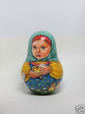 """Russian doll MATRYOSHKA Roly Poly  """"Little ducklings"""" ORIGINAL HAND-PAINTED"""