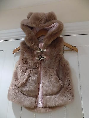 Next girls faux fur gilet / gillet / coat / jacket size 3-4 years WORN ONCE
