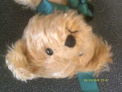 Vintage Deans Jointed Large Mohair Teddy,signed Md Neil Miller + Artist On Foot