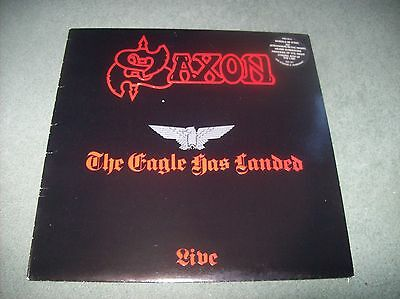 Saxon - The Eagle Has Landed (Live) LP first UK issue 1982 on Carrere CAL 137