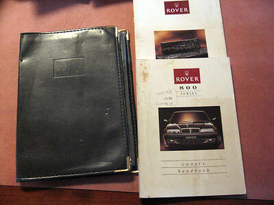 Rover Owners Handbook 800 Series &  In Car Entainment In A  Leather Cover