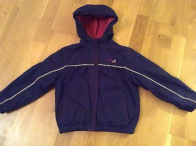 Girls navy and pink Crew jacket age 5-6 years