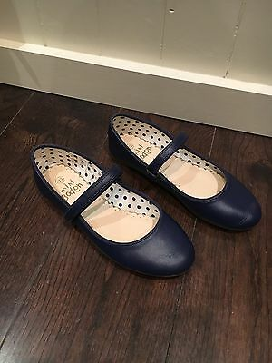 Mini Boden Mary Jane Navy Blue Party Shoes Size Eur 33
