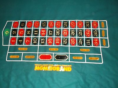 Genuine  Mgm Casino Gaming Roulette Table Felt Las Vegas - Un-Used,full Size