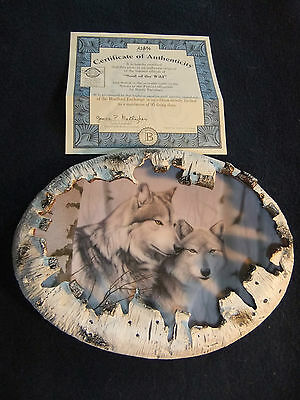 Bradford Exchange  2000- Wolf Plate - Soul of the Wild - Rusty Frentner #A2854