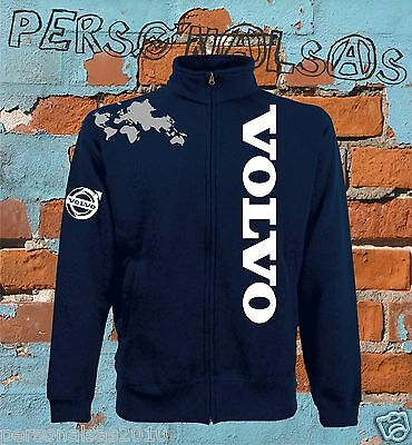 VOLVO jacket sweat jacket logo vertical tuning truck pull truck holland style