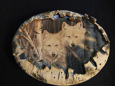 Bradford Exchange 1999- Wolf Plate - White Magic - Rusty Frentner   first issue