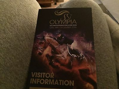 Olympia Horse Show 2 Tickets  Thursday 15th Dec 2016 - Puissance