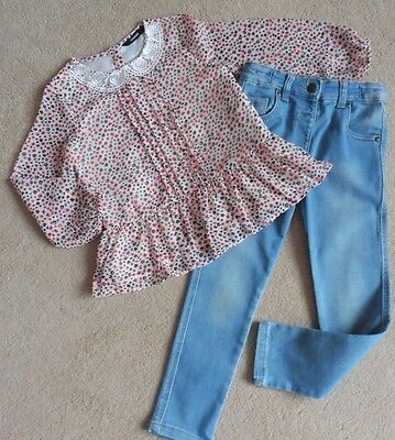 Girls George Top + Pair Of Tu Stretch Jeans, Age 4- 5 Years