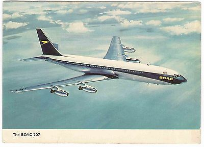 The BOAC 707 vintage Postcard posted