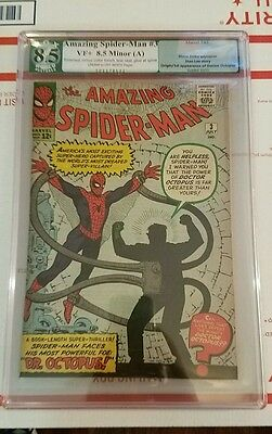 Amazing Spider-Man #3 1963 - 1st App Doctor Octopus - Human Torch! CGC PGX 8.5