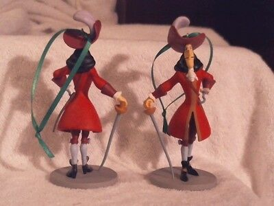 DISNEY CAPTAIN HOOK with SWORD JAKE and the NEVERLAND PIRATES ORNAMENT