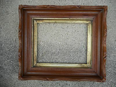 Antique 19thC Carved Adirondack Style Shadowbox Picture Frame fits 8 x 10