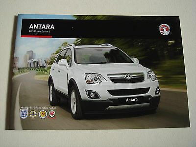 Vauxhall . Antara . 2015 Models Edition 2 . Sales Brochure