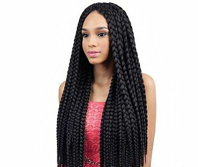 Box Braid by Que. Jumbo pre-made for Crochet like Senegalese Twist Style