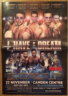 Boxing programme & score card - I have a dream - 2013