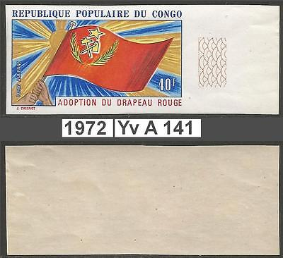 Congo  PR - 1972 - Yv A141 - MNH - Adoption red flag 40F - ND non dent - imperf