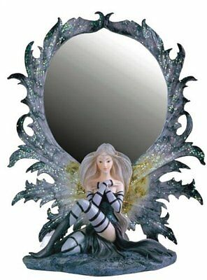 10 Inch Nymph Fairy Mirror Figurine Figure Fairies Magic Statue Collectible