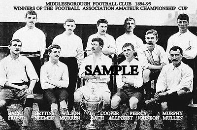 Middlesbrough FC 1894 Cup Team Photo