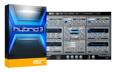 Hybrid 3 'Analogue' Synth VST AU Mac or PC Software Plugin. Two computer serial!