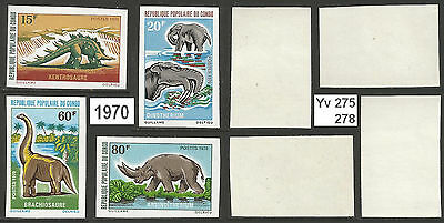 Congo  PR - 1970 - Yv 275 8 - MNH - Prehistoric Animals - ND - imperforated