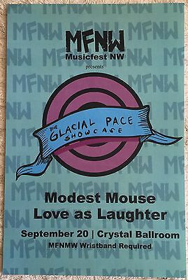 Modest Mouse Gig Poster 2009 MFNW Musicfest NW Glacial Pace Showcase NM-