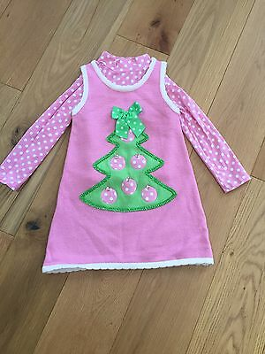 Stunning Bonnie Jean Christmas Tree Outfit Knitted Dress & Top 6X 6-8 Years