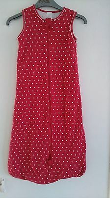 Baby Girls Red Spotted Grobag/Sleepbag From ByCarla Age 6-18 Months