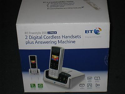 BT Freestyle 350 Twin Cordless Telephone  Colour Screen With Answer Machine