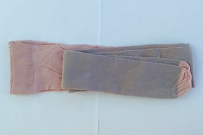 Girls Dusky Pink Sparkley Tights, age 7-8, FREE giftwrap.