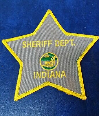 Indiana Sheriff Department Police Shoulder Patch In