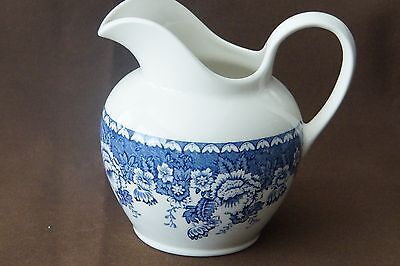 Mason's Ironstone Jug Blue White England Crabtree & Evelyn London