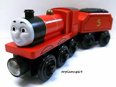JAMES & TENDER ENGINE - BRIO ELC THOMAS AND FRIENDS Wooden Trains T1
