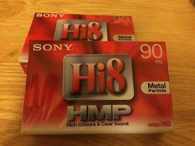 2 X BRAND NEW SONY Hi8 VIDEO CASSETTES TAPES