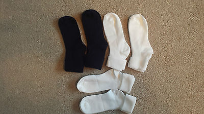 6 pairs Navy/White School / Casual TOT Socks size 12h - 3h  ( age 7 - 11 years )