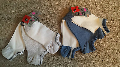 6 pairs Girls Multi coloured Trainer Socks size 4 - 7  ( age 11 - 16 years )