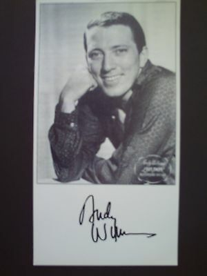 Andy Williams Genuine Signed 8X4 Photograph