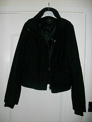GIRLS BLACK JACKET by NEW LOOK SIZE 12