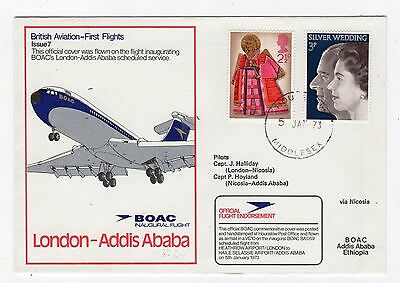 Gb: 1973 Boac First Flight Cover From London To Addis Ababa (C22545)