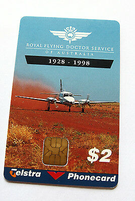 1998 Royal Flying Doctor   Telstra Phonecard $2 mint