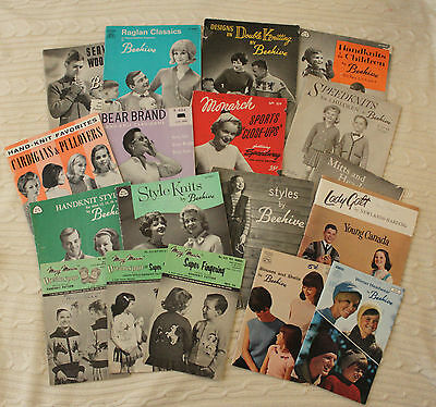 Mixed Lot of Vintage Knitting Pattern Magazines 1940s War Service Woollies Adult