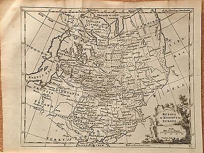 1770 Russia In Europe Muscovy Original Antique Map By Thomas Jeffreys