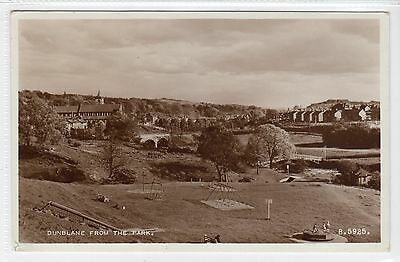 DUNBLANE FROM THE PARK: Perthshire postcard (C22805)