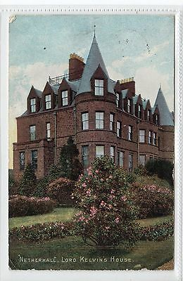 """NETHERHALL"", LORD KELVIN'S HOUSE, LARGS: Ayrshire postcard (C22229)"